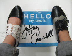 My name with shoes.